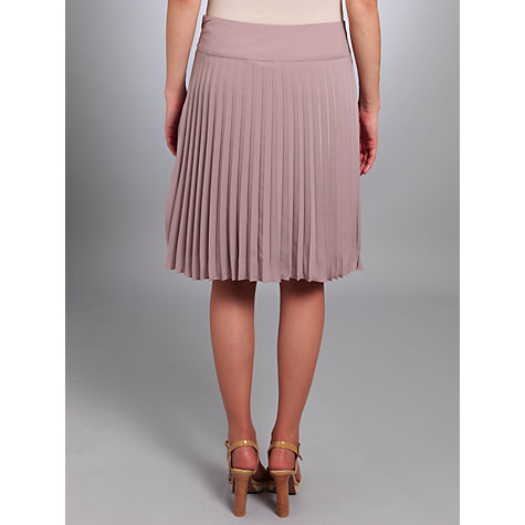 Buy Betty Barclay Dropped Waist Pleated Skirt, Soft Taupe Online at johnlewis.com