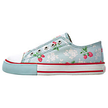 Buy Cath Kidston Mock Lace Up Pumps, Strawberry Online at johnlewis.com
