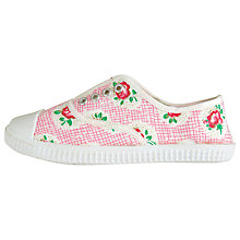 Buy Cath Kidston Plimsolls, Lattice Rose Online at johnlewis.com