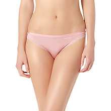Buy Calvin Klein Seductive Comfort Lace Briefs, Pink Online at johnlewis.com