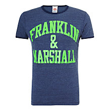 Buy Franklin & Marshall Neon Logo T-Shirt Online at johnlewis.com