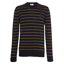 Buy Lyle & Scott Vrezzi Stripe Crew Neck Jumper Online at johnlewis.com