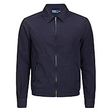Buy Polo Ralph Lauren Full Zip Jacket, Navy Online at johnlewis.com