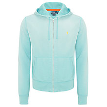 Buy Polo Ralph Lauren Full Zip Hoodie, Turquoise Online at johnlewis.com