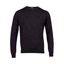 Buy John Smedley Ulric Crew Neck Jumper, Navy Online at johnlewis.com