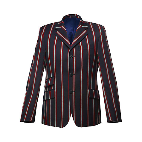 Buy Merc Hemingway Stripe Single Breast Blazer, Navy/Red Online at johnlewis.com