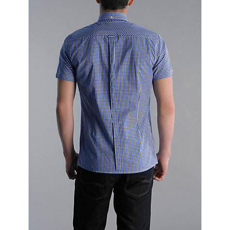 Buy Merc Terry Check Short Sleeve Shirt, Royal Blue Online at johnlewis.com