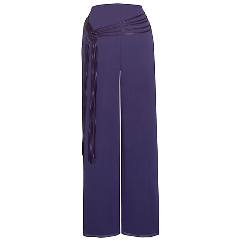 Buy Chesca Spaghetti Belt Trim Trousers, Violet Online at johnlewis.com