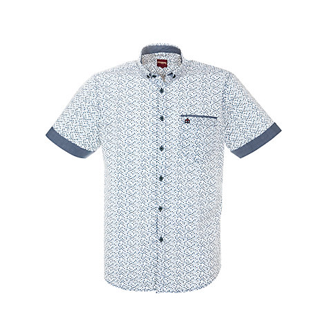 Buy Merc Orville Dot Short Sleeve Shirt, Dust Blue Online at johnlewis.com