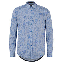 Buy Merc Buford Long Sleeve Shirt, Blue Online at johnlewis.com