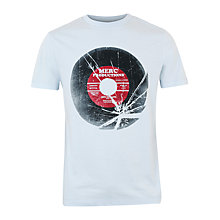 Buy Merc Hammond Broken Record Print T-Shirt, Sky Online at johnlewis.com