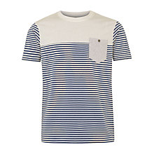 Buy Merc Reuben Stripe T-Shirt, Navy Online at johnlewis.com