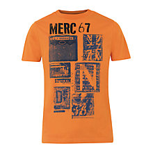 Buy Merc Hayton Retro Graphic Print Short Sleeve T-Shirt, Tangerine Online at johnlewis.com