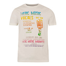 Buy Merc Digby Music Festival Print T-Shirt, Vintage White Online at johnlewis.com