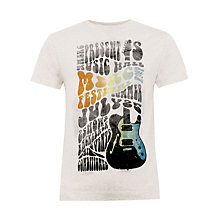 Buy Merc Bray Music Print T-Shirt, Beige/Multi Online at johnlewis.com