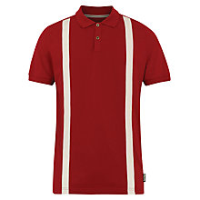 Buy Merc Calvin 2 Stripe Polo Shirt, Red Online at johnlewis.com