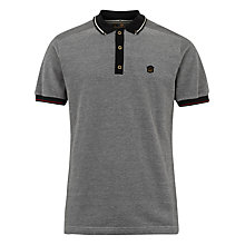 Buy Merc Hugh Contrast Collar Polo Shirt, Charcoal Online at johnlewis.com
