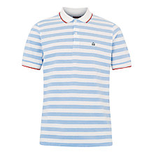 Buy Merc Amos Stripe Short Sleeve Polo Shirt, Blue/White Online at johnlewis.com