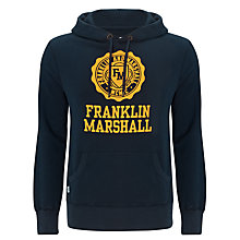 Buy Franklin & Marshall Crest Logo Hoodie Online at johnlewis.com