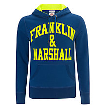 Buy Franklin & Marshall Neo Logo Hoodie, Blue/Yellow Online at johnlewis.com