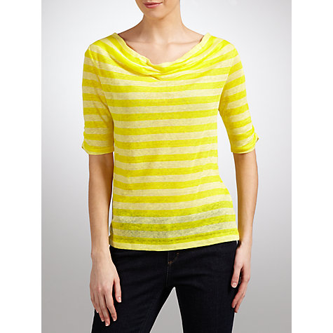 Buy Collection WEEKEND Cowl Neck Stripe T-Shirt Online at johnlewis.com