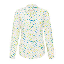 Buy John Lewis Floral Ditsy Print Shirt, Green Online at johnlewis.com
