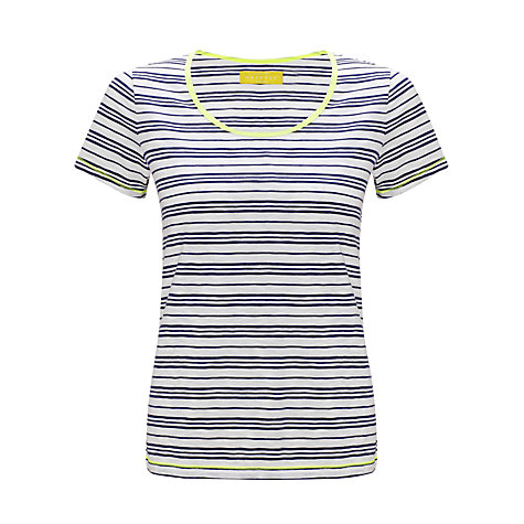 Buy Collection WEEKEND by John Lewis Flouro Stripe Slub T-Shirt Online at johnlewis.com