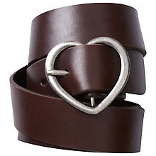 Buy White Stuff Heart Buckle Belt, Chocolate Online at johnlewis.com