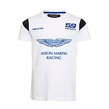 Buy Hackett London Aston Martin Racing Polo Shirt, White Online at johnlewis.com