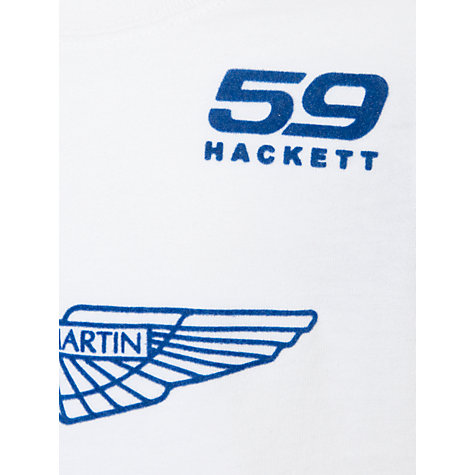 Buy Hackett London Boys' Aston Martin Racing T-Shirt, White Online at johnlewis.com