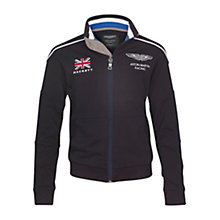 Buy Hackett London Aston Martin Racing Zip-Through Top, Navy Online at johnlewis.com