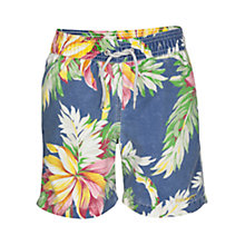 Buy Hackett London Hawaiian Swimming Shorts, Blue/Multi Online at johnlewis.com