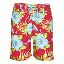 Buy Hackett London Hawaiian Swimming Shorts, Red/Multi Online at johnlewis.com