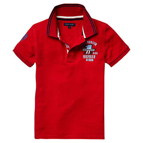 Buy Tommy Hilfiger Boys' Championships Polo Shirt, Red Online at johnlewis.com