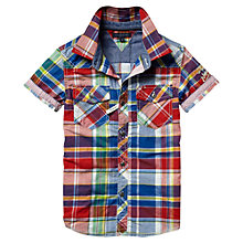 Buy Tommy Hilfiger Boys' Davis Checked Short Sleeved Shirt, Multi Online at johnlewis.com