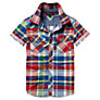 Tommy Hilfiger Boys' Davis Checked Short Sleeved Shirt, Multi