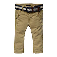Buy Tommy Hilfiger Justin Trousers with Belt, Sand Online at johnlewis.com