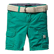 Buy Tommy Hilfiger Boys' Miles Cargo Shorts, Aqua Online at johnlewis.com