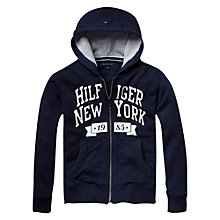 Buy Tommy Hilfiger Otter Zip Through Hoodie, Navy Online at johnlewis.com