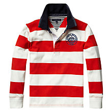 Buy Tommy Hilfiger Russell Striped Long Sleeved Rugby Shirt Online at johnlewis.com