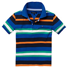 Buy Tommy Hilfiger Boys' Waterfront Striped Polo Shirt, Multi Online at johnlewis.com