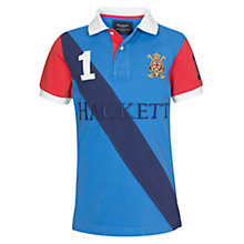 Buy Hackett Boys' Beach Short Sleeved Polo Shirt, Blue Online at johnlewis.com