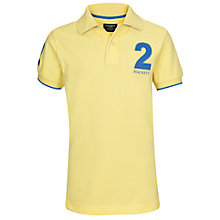 Buy Hackett London Classic Short Sleeved Polo Shirt, Yellow Online at johnlewis.com