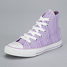 Buy Converse Chuck Taylor All Star Hi-Top Trainers, Lavendula Online at johnlewis.com