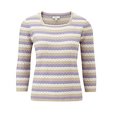 Buy CC Petite Textured Stripe Jumper, Multi Online at johnlewis.com