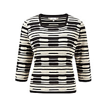 Buy CC Petite Broken Stripe Jumper, Natural/Black Online at johnlewis.com