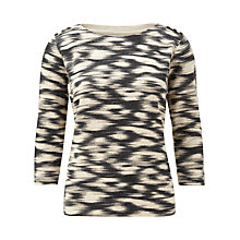 Buy CC Petite Aztec Print Jumper, Natural/Pebble Online at johnlewis.com