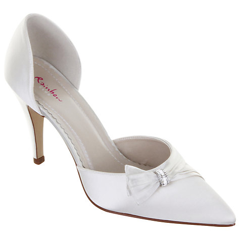 Buy Rainbow Club Taylor Diamanté Trim Satin D'Orsay Shoes Online at johnlewis.com