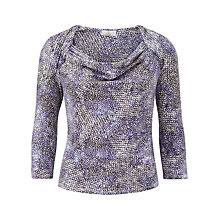 Buy CC Petite Mini Animal Spot Print Top, Lilac Online at johnlewis.com