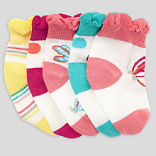 Buy John Lewis Butterfly Socks, Pack of 5, Multi Online at johnlewis.com